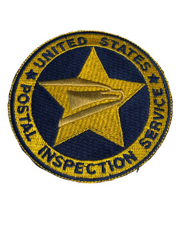 US POSTAL INSPECTION SERVICE PATCH GOLD