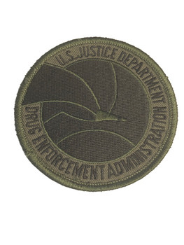 US DEPARTMENT OF DRUG ENFORCEMENT ADMINISTRATION PATCH GREEN