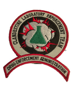 DEA CLANDESTINE LABORATORY ENFORCEMENT TEAM PATCH