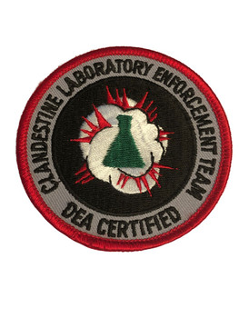 DEA CLANDESTINE LABORATORY ENFORCEMENT TEAM  CERTIFIED PATCH