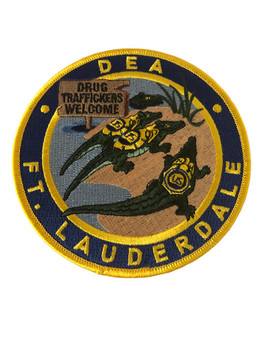 DEA FT LAUDERDALE POLICE PATCH