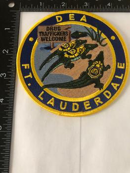 DEA FT LAUDERDALE POLICE PATCH