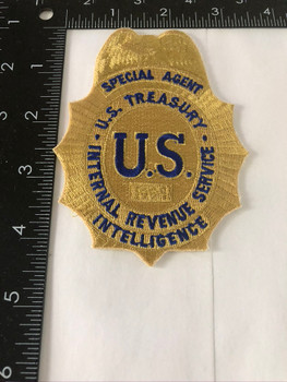 TREASURY IRS INTELLIGENCE POLICE PATCH