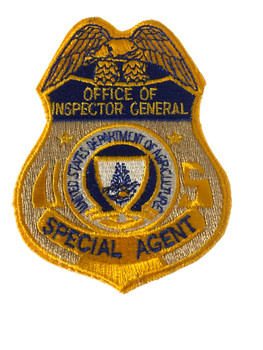 U.S. AGR. INSPECTOR GENERAL POLICE PATCH SM