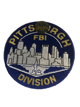 FBI PITTSBURGH POLICE PATCH & PIN