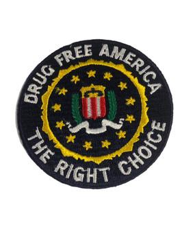 FBI DRUG FREE AMERICA POLICE PATCH