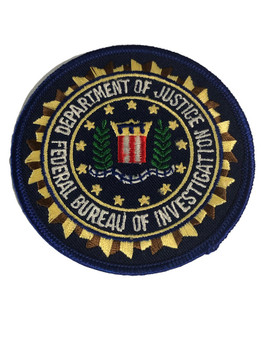 FBI POLICE PATCH BLUE