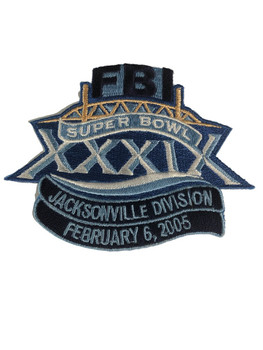 FBI SUPER BOWL 2005 JACKSONVILLE POLICE PATCH