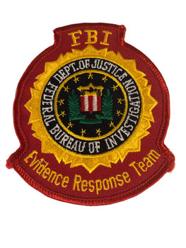 FBI EVIDENCE RESPONSE TEAM POLICE PATCH