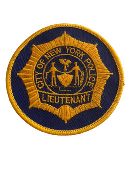 NYPD LIEUTENANT POLICE PATCH