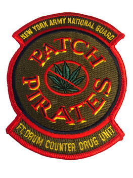 PIRATES PATCH FT. DRUM NY NATIONAL GUARD POLICE PATCH