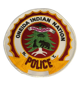 ONEIDA INDIAN NY POLICE PATCH ROUND