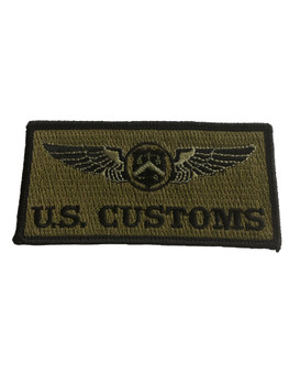 U.S. CUSTOMS WINGS POLICE PATCH GREEN