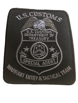 U.S. CUSTOMS WARRANT ENTRY POLICE PATCH