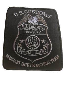 U.S. CUSTOMS WARRANT ENTRY POLICE PATCH