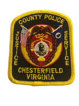 CHESTERFIELD VA POLICE PATCH