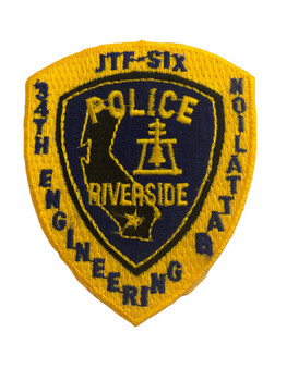 RIVERSIDE CA POLICE PATCH