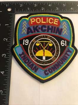 AK-CHIN INDIAN POLICE PATCH