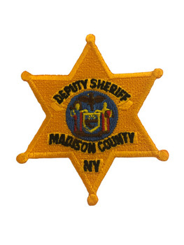 MADISON CTY NY SHERIFF GOLD STAR POLICE PATCH