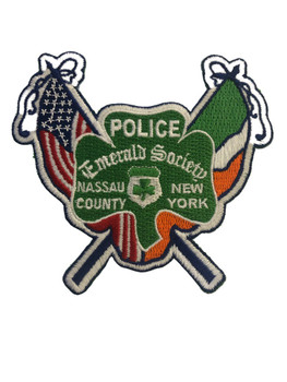 NASSAU CTY NY POLICE EMERALD SOCIETY  PATCH