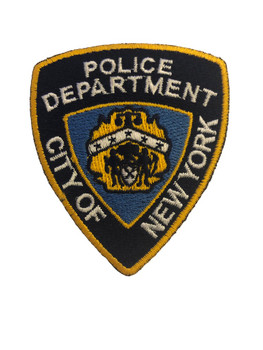 NYPD POLICE PATCH LASER CUT SM