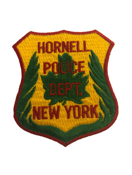 HORNELL NY POLICE PATCH LASER CUT