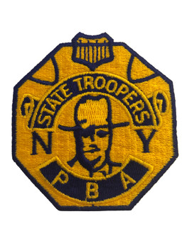 NY STATE TROOPERS PBA BADGE POLICE PATCH