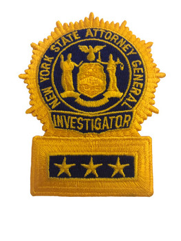 NY STATE ATTORNEY GENERAL INVESTIGATOR  POLICE  PATCH
