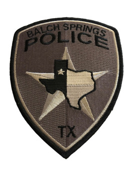 BALCH SPRINGS TX POLICE PATCH