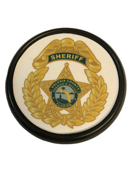 VOLUSIA SHERIFF FL COASTER PAPERWEIGHT