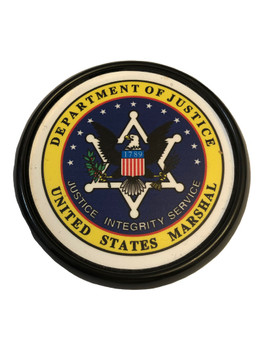 U.S. MARSHALS SERVICE  SEAL COASTER PAPERWEIGHT