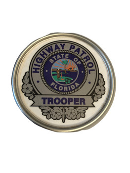 FHP TROOPER BADGE COASTER PAPERWEIGHT