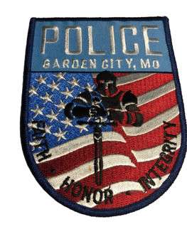 GARDEN CITY MISSOURI POLICE PATCH FREE SHIPPING!