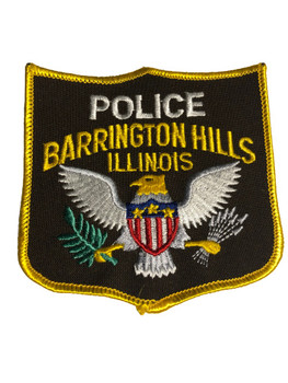 BARRINGTON HILLS IL  POLICE PATCH FREE SHIPPING!