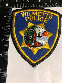 WILMETTE IL POLICE PATCH FREE SHIPPING!