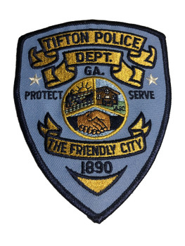 TIFTON GA POLICE PATCH FREE SHIPPING!