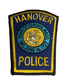 HANOVER MA POLICE PATCH FREE SHIPPING!