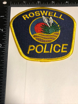 Roswell NM Police Patch FREE SHIPPING!