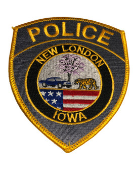 New London Iowa Police Patch FREE SHIPPING!