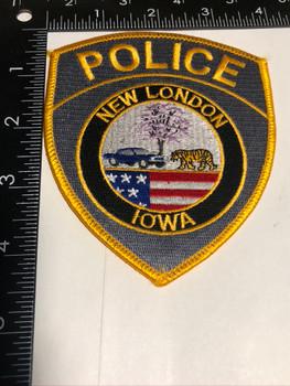 New London Iowa Police Patch FREE SHIPPING!
