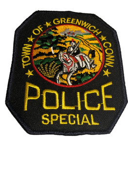 GREENWICH CT  POLICE PATCH FREE SHIPPING!