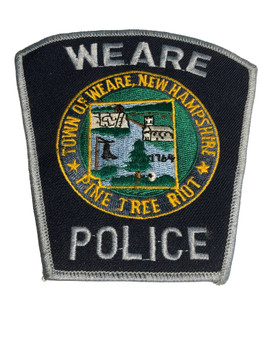WEARE NH POLICE PATCH FREE SHIPPING!