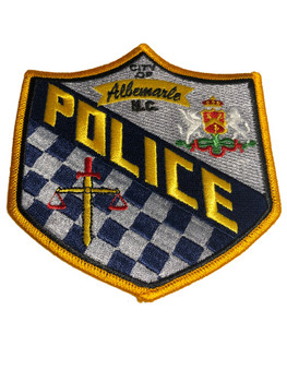 ALBEMARLE NC POLICE PATCH FREE SHIPPING!