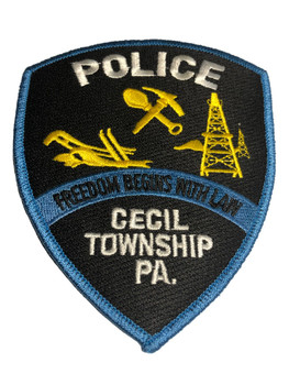 CECIL PA POLICE PATCH FREE SHIPPING!
