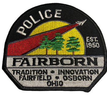 FAIRBORN OH POLICE PATCH FREE SHIPPING!