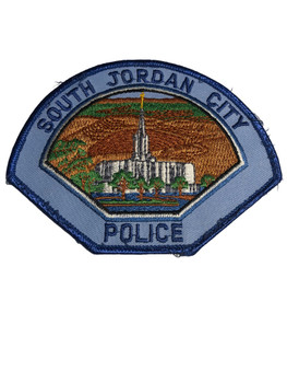 SOUTH JORDAN CITY UT POLICE PATCH FREE SHIPPING!