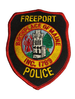 FREEPORT ME POLICE PATCH FREE SHIPPING!