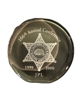 CA SHERIFF DOMED PAPERWEIGHT FREE SHIPPING!