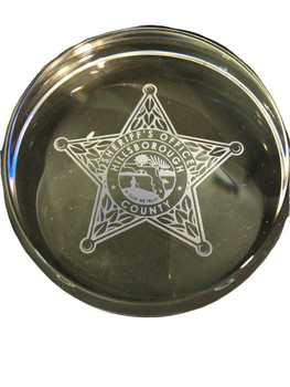 HILLSBOROUGH SHERIFF FL DOMED PAPERWEIGHT FREE SHIPPING!