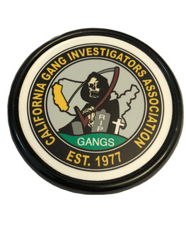 CALIFORNIA GANG INVESTIGATORS COASTER PAPERWEIGHT